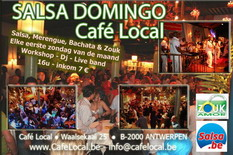 First sunday Salsa Domingo Cafe Local live band